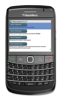 SR&ED BlackBerry App